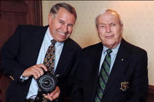 Eric Crossan and Arnold Palmer
